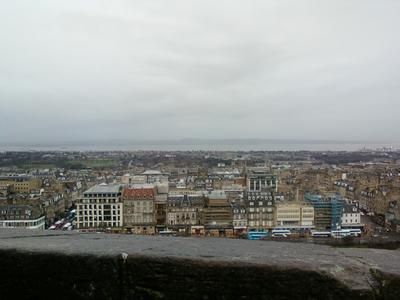 Edinburgh Castle panoramic view from top
