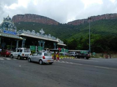 Entrance check point at Seshachalam hills