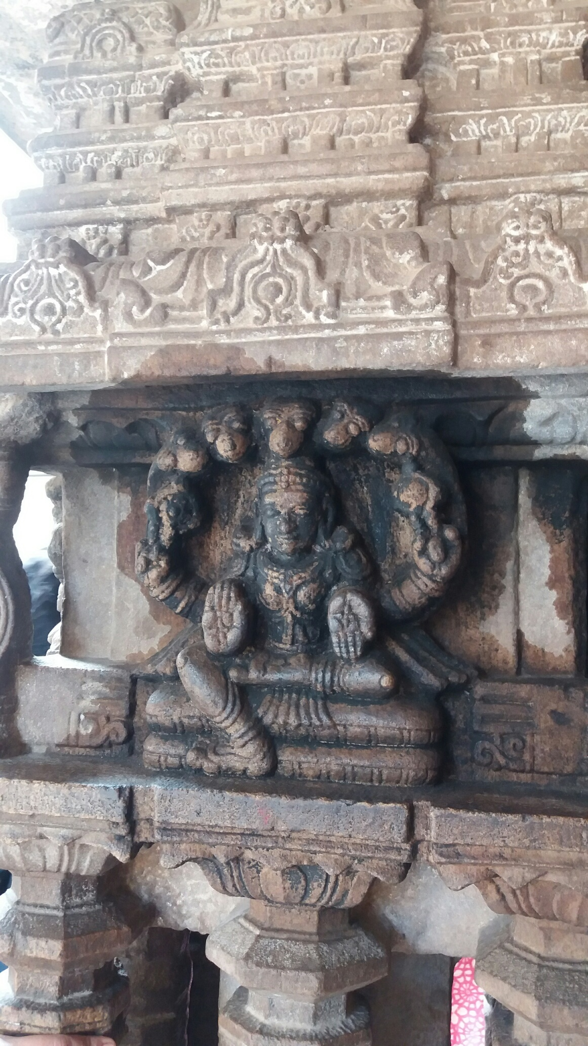 Melkote temple carving