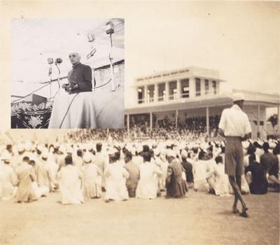 Nehru and his commited followers.