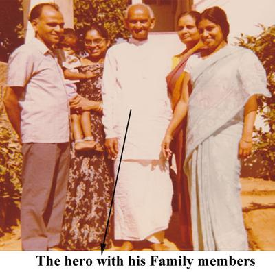 The Hero with his Family.