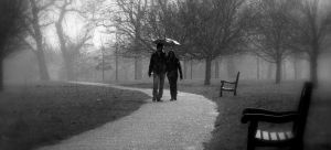Walking miles together in the rain...!