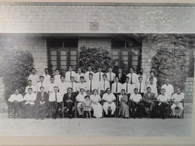 As a student at IISc., in the first row, fifth from left.